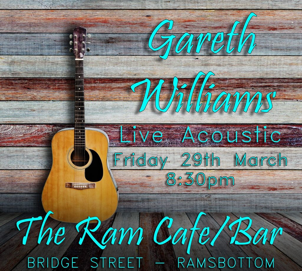 Gareth Williams Live acoustic guitar/violin at The Ram Cafe in Ramsbottom