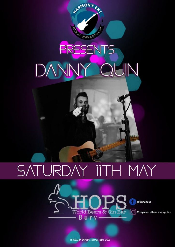 Live Music | Danny Quin | The Hops | Silver Street | Bury